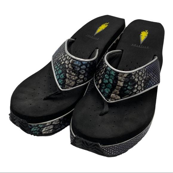 Volatile Dragon Sandals Black Size  8